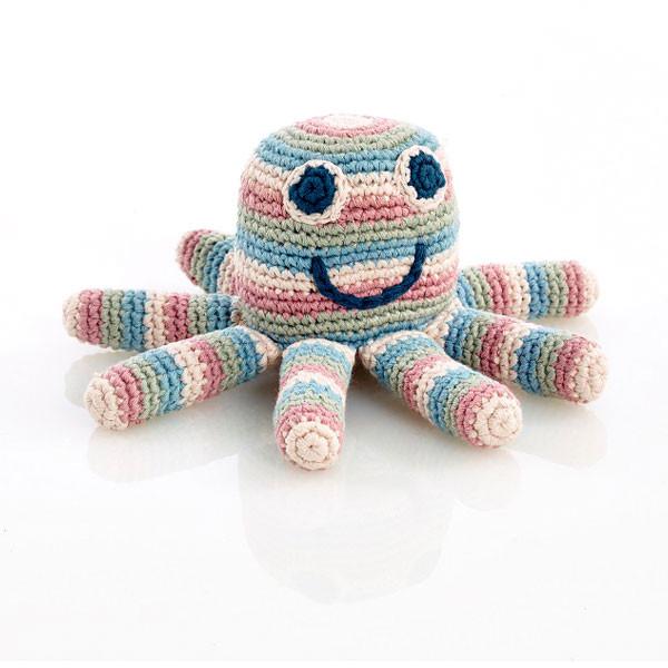 Rattle – octopus – organic