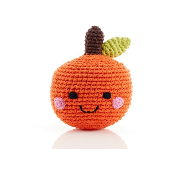 Friendly fruit rattle – orange