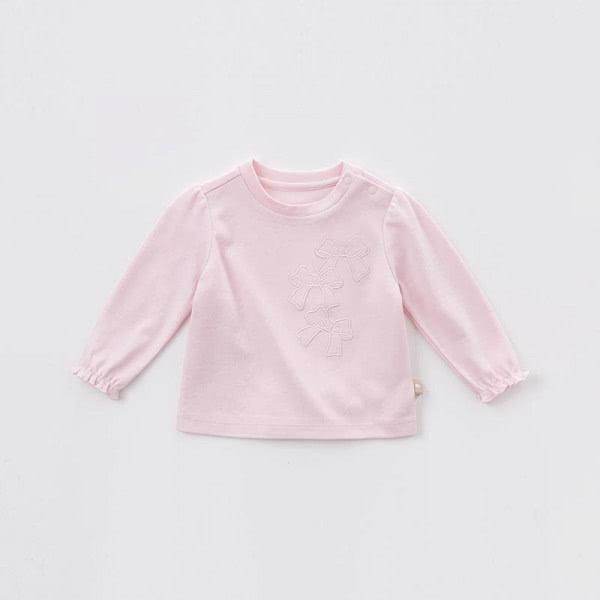 Langarmshirt in rosa mit elastischen Rüschen
