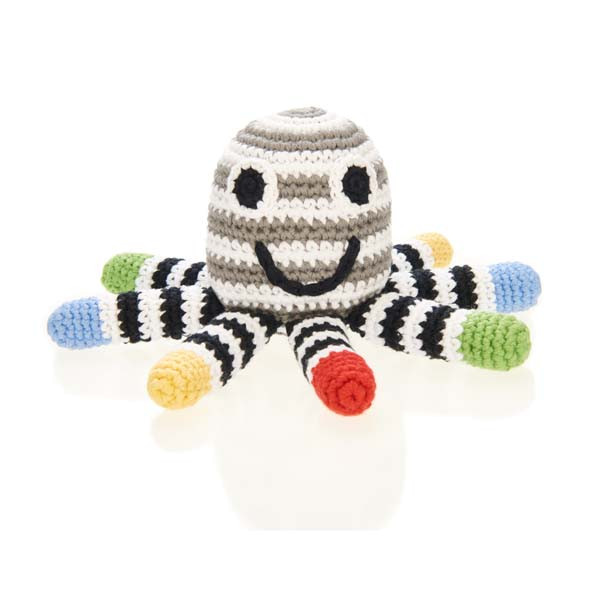 Rattle – octopus – black/white