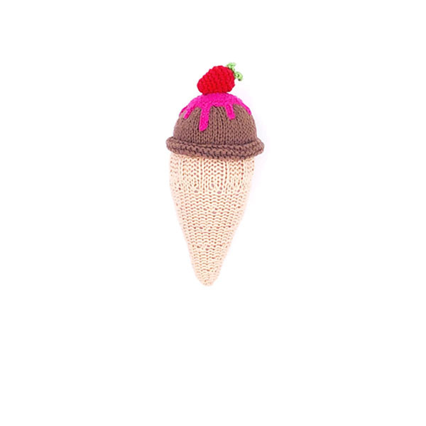 Knitting ice cream - chocolate