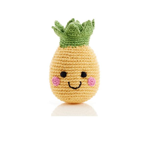 Friendly fruit rattle – pineapple