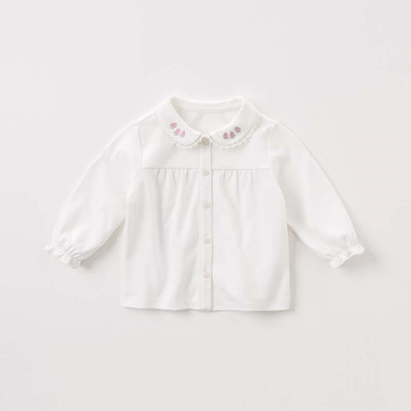 Blouse with elastic ruffled cuffs