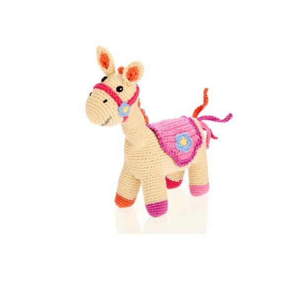 Horse rattle – (4 legs) – pink