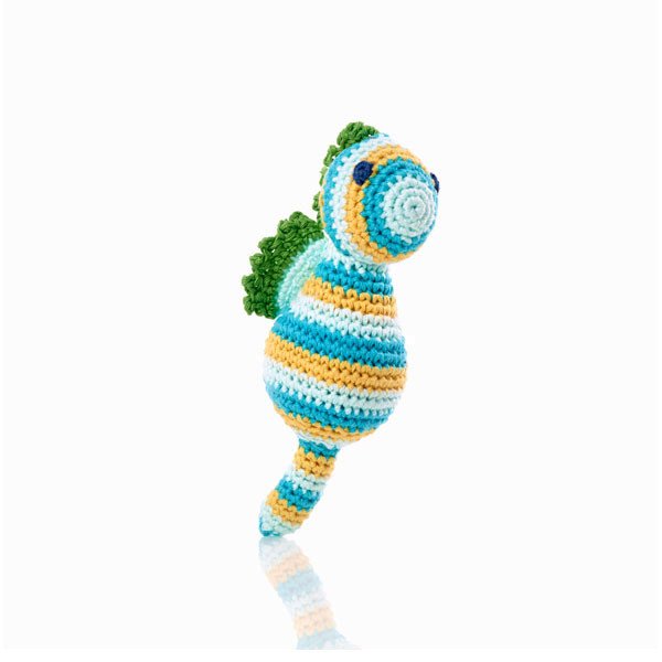 Seahorse rattle blue