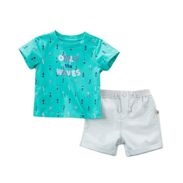T-Shirt & Shorts Set - Only the Waves