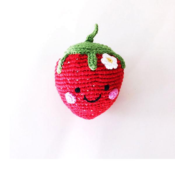 Rassel Erdbeere / gehäkelt