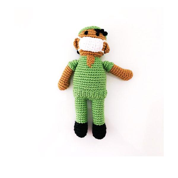 Nurse scrubs rattle green