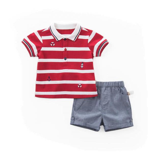 Jungenset aus Poloshirt und Bermudas