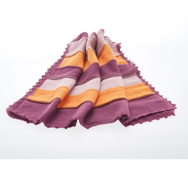 Organic baby blanket – soft purple