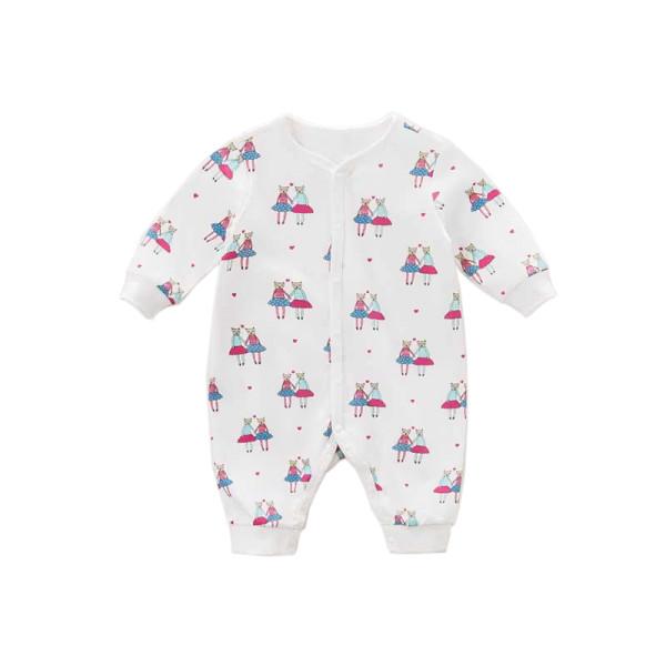 Baby Strampler Schlafanzug mit Katzen Print