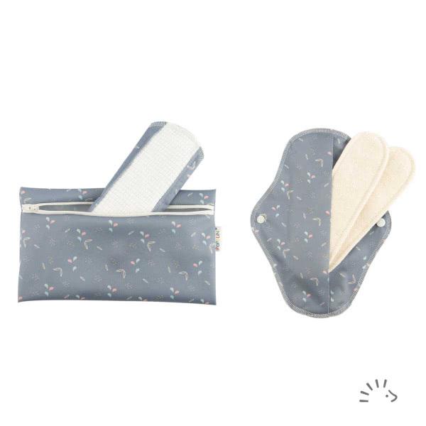 Popolini 2x Damenbinde Flexi, waschbar, inklusive Einlagen: bibaboo.ch