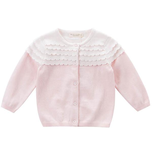 Strickjacke in rosa und weis