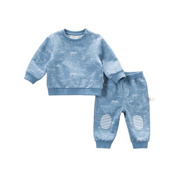 Sweatshirt und Jogginghose Set Tier Muster