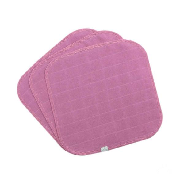 3x Reinigungstuch kbA Baumwolle OECO-TEX Pink