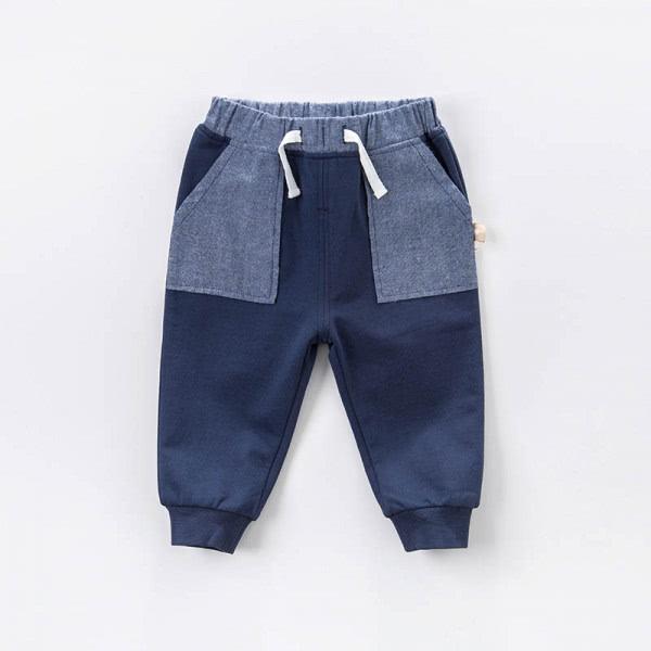 Stoffhose Blau mit elastischem Bund