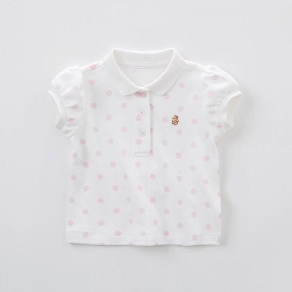 T-Shirt Rosa Punkte