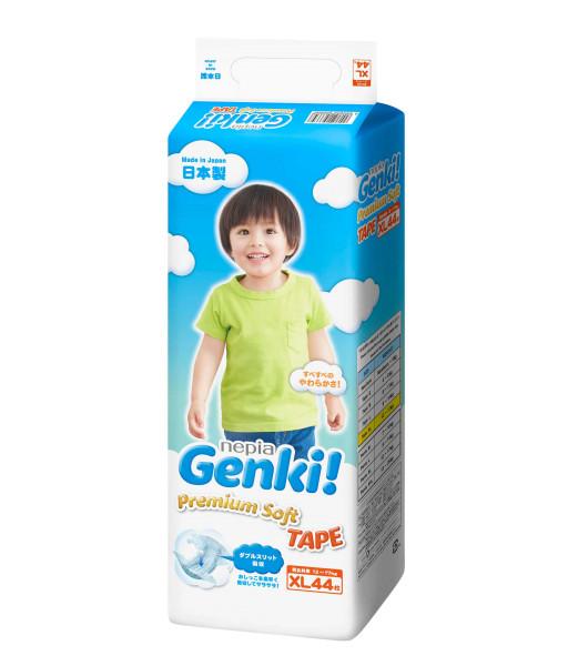 Windeln Genki Premium Soft XL44 12-17kg