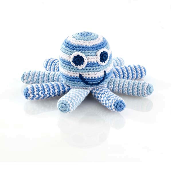 Rattle octopus – Pale blue