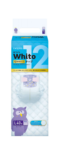 Diapers Nepia Whito L40 12H 9-14kg
