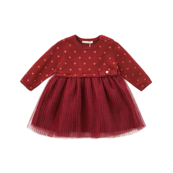 Knitted dress in red