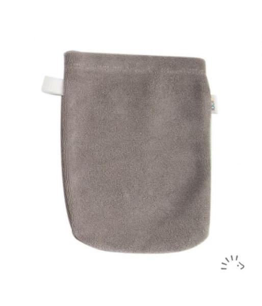 Waschhandschuh Frottee Organic GOTS Grau