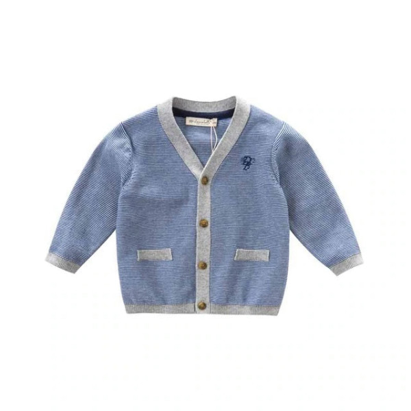 Cardigan in blue / gray, striped