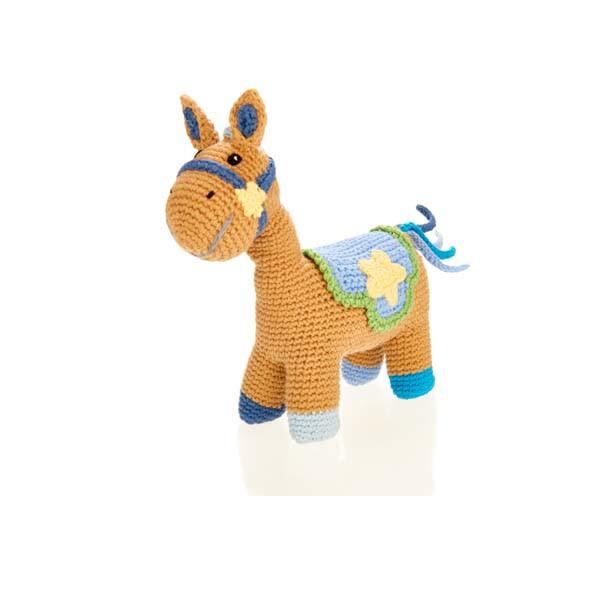 Horse rattle – (4 legs) – blue