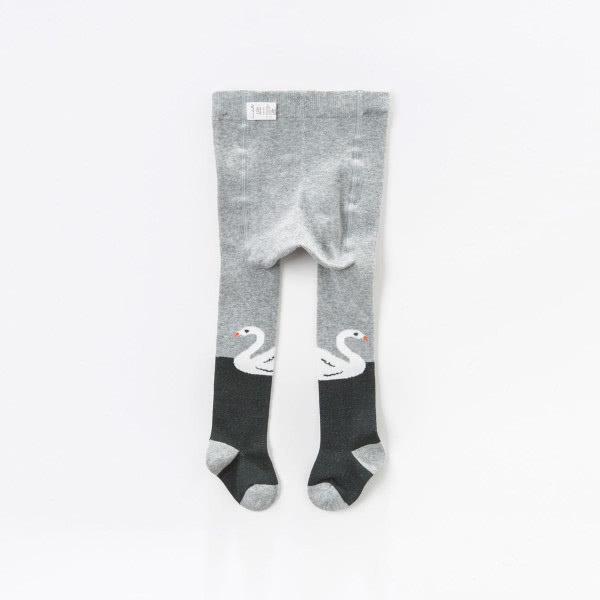 Tights in gray swan