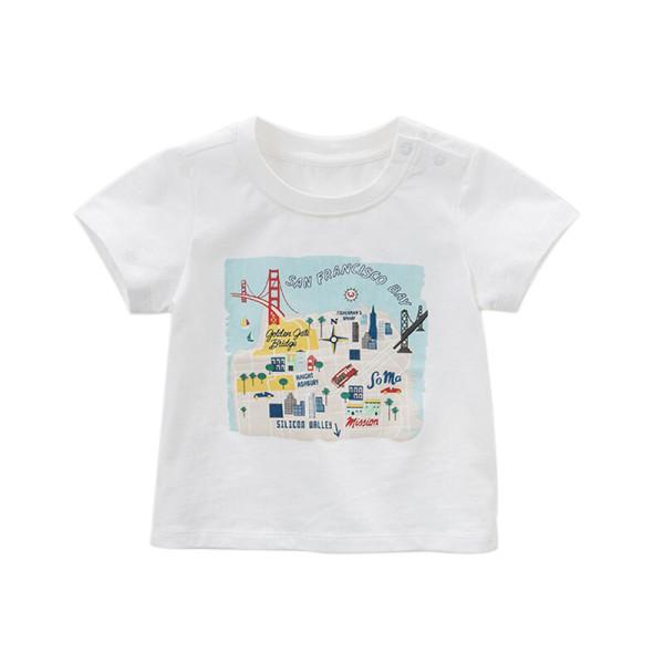 Boy T-shirt DBA6408 San Francisco Bay Print White