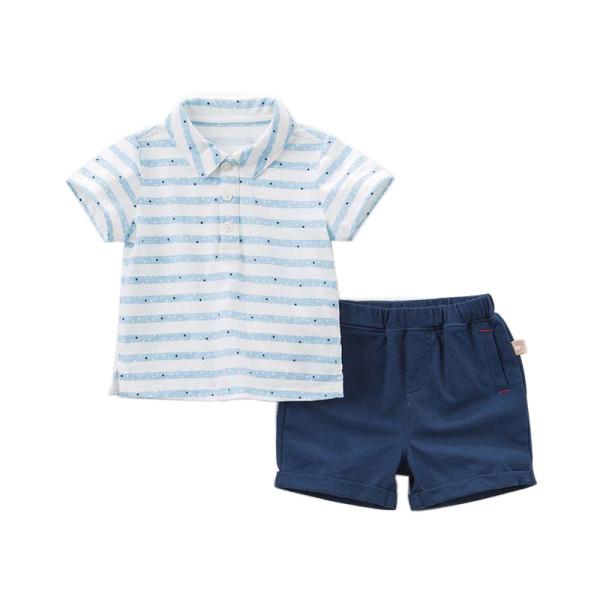 Poloshirt und Shorts Set - Sterne & Streifen